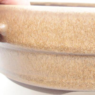 Keramická bonsai miska 17,5 x 17,5 x 5,5 cm, barva hnědá - 2