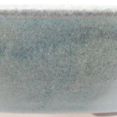Keramická bonsai miska 18,5 x 18,5 x 4 cm, barva zelená - 2