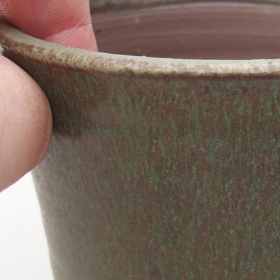 Keramická bonsai miska 9 x 9 x 8,5 cm, farba zelená - 2