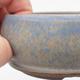 Keramická bonsai miska 10 x 10 x 3,5 cm, barva modrá - 2/4