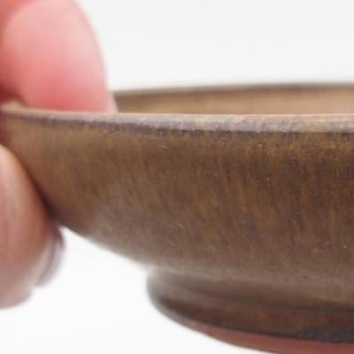 Keramická bonsai miska 11 x 11 x ,3 cm, barva hnědá - 2