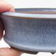 Keramická bonsai miska 16 x 16 x 5 cm, barva modrá - 2/4