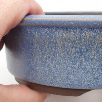 Keramická bonsai miska 16 x 16 x 5 cm, barva modrá - 2