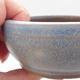Keramická bonsai miska 10 x 10 x 4,5 cm, barva modrá - 2/4