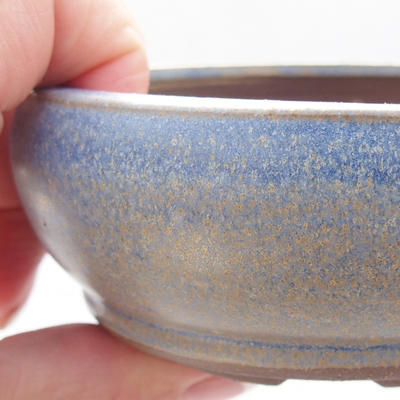 Keramická bonsai miska 10 x 10 x 4,5 cm, barva modrá - 2