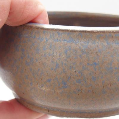 Keramická bonsai miska 9 x 9 x 5 cm, barva modrá - 2