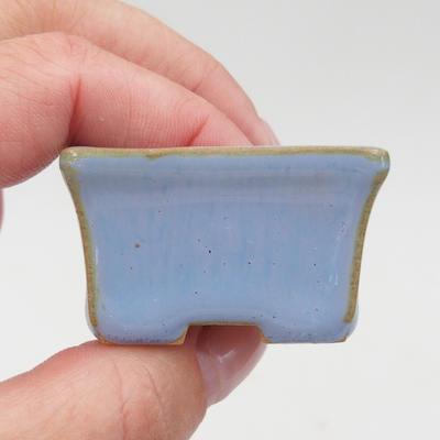 Mini bonsai miska 4 x 3 x 2,5 cm, farba modrá - 2