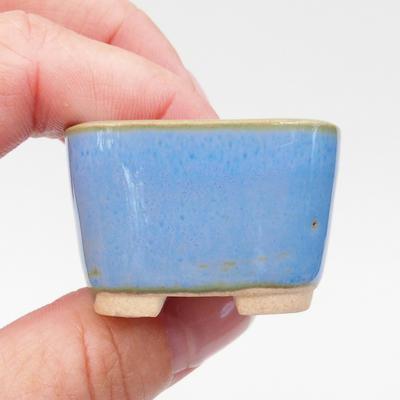 Mini bonsai miska 3,5 x 3,5 x 2,5 cm, farba modrá - 2