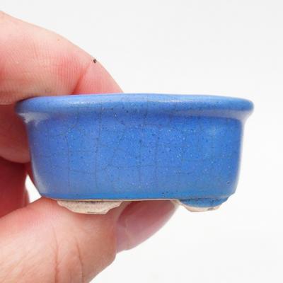 Mini bonsai miska 4,5 x 4 x 2 cm, farba modrá - 2