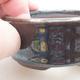 Keramická bonsai miska 8 x 8 x 3 cm, barva zelená - 2/3