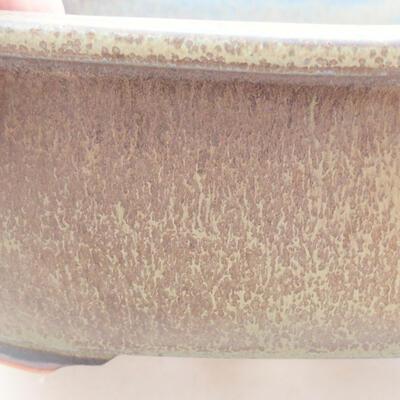 Keramická bonsai miska 23 x 20 x 7 cm, farba šedá - 2