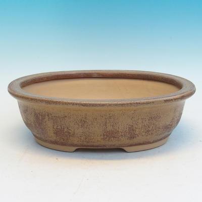 Keramická bonsai miska CEJ 56, světle hnědá - 2