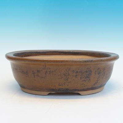 Keramická bonsai miska CEJ 56, tmavě hnědá - 2