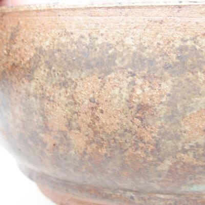 Keramická bonsai miska 16 x 16 x 6,5 cm, barva hnědá - 2