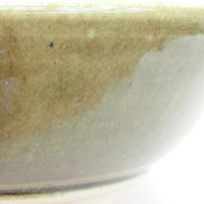 Keramická bonsai miska 22 x 22 x 7,5 cm, barva béžová - 2