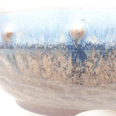 Keramická bonsai miska 18,5 x 18,5 x 7 cm, barva modrá - 2