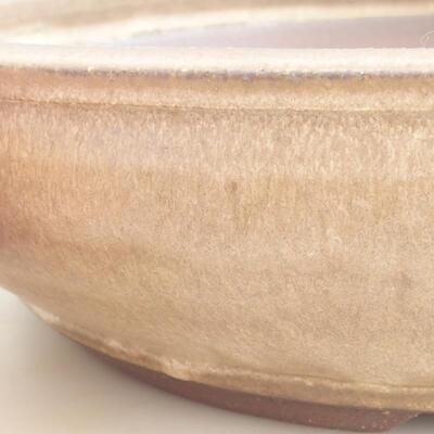 Keramická bonsai miska 37,5 x 37,5 x 9 cm, barva hnědá - 2