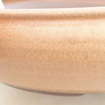 Keramická bonsai miska 34 x 34 x 8,5 cm, barva hnědá - 2