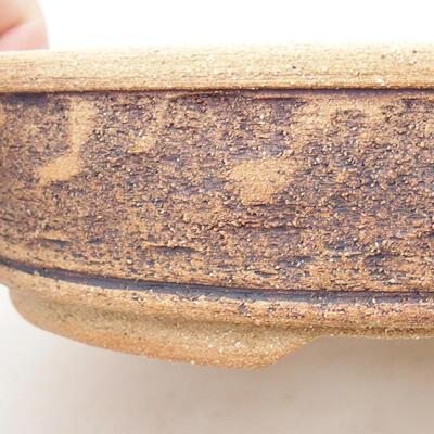 Keramická bonsai miska 21 x 21 x 6 cm, barva hnědá - 2
