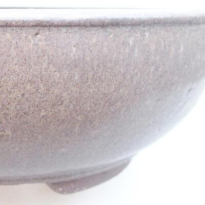 Keramická bonsai miska 25 x 25 x 8 cm, barva šedá - 2