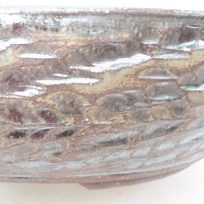 Keramická bonsai miska 36 x 36 x 9,5 cm, barva kovová - 2
