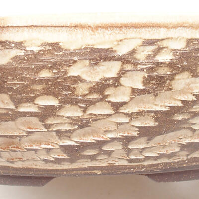 Keramická bonsai miska 37,5 x 37,5 x 9,5 cm, barva béžová - 2
