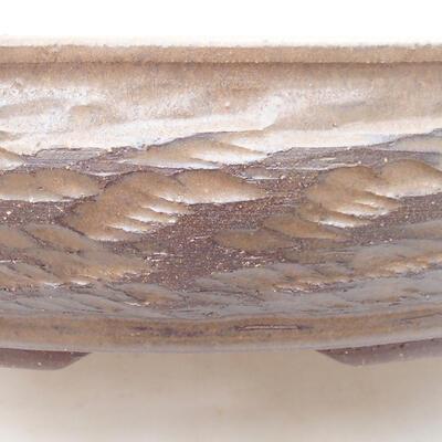 Keramická bonsai miska 36,5 x 36,5 x 8,5 cm, barva hnědá - 2
