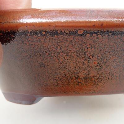 Keramická bonsai miska 12,5 x 12,5 x 4 cm, barva hnědá - 2