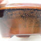 Keramická bonsai miska 12,5 x 12,5 x 4 cm, barva hnědá - 2/3