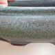 Keramická bonsai miska 10 x 10 x 3,5 cm, barva šedá - 2/3