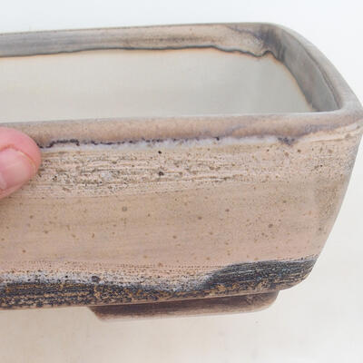 Bonsai miska 30 x 22 x 8 cm, barva šedobéžová - 2