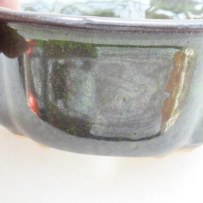 Keramická bonsai miska 13 x 11 x 5,5 cm, barva zelená - 2