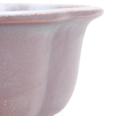 Keramická bonsai miska 13 x 11 x 5,5 cm, barva kovová - 2