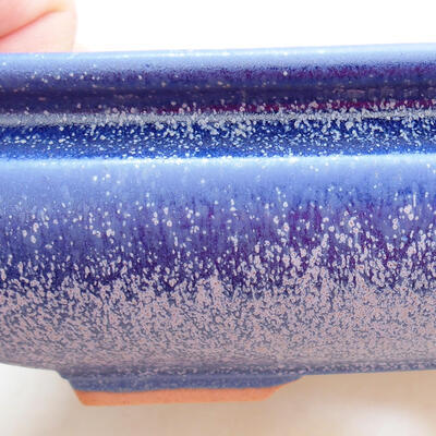 Keramická bonsai miska 15,5 x 15,5 x 5,5 cm, barva modrá - 2