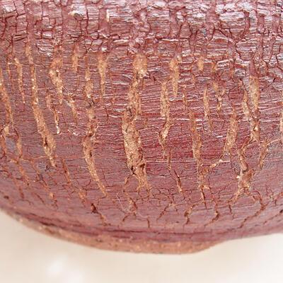 Keramická bonsai miska 17 x 17 x 7,5 cm, barva praskaná - 2