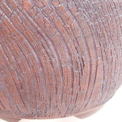 Keramická bonsai miska 14,5 x 14,5 x 8,5 cm, barva praskaná - 2