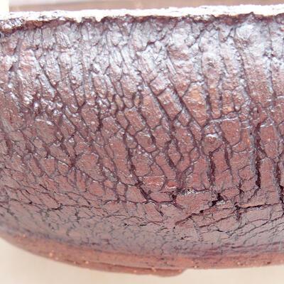 Keramická bonsai miska 20 x 20 x 6 cm, barva praskaná - 2