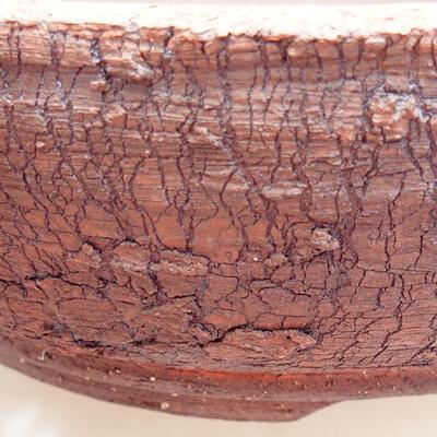 Keramická bonsai miska 19,5 x 19,5 x 6 cm, barva praskaná - 2