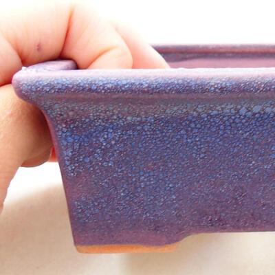 Keramická bonsai miska 11 x 8,5 x 4,5 cm, farba fialová - 2