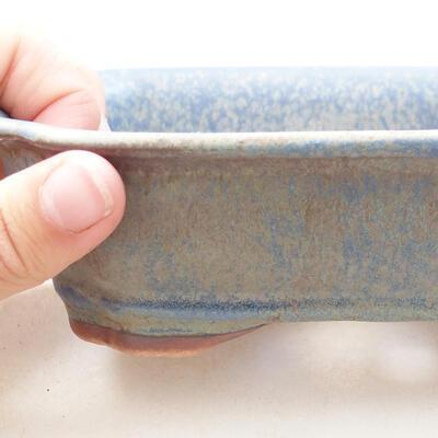 Keramická bonsai miska 15 x 12 x 4,5 cm, farba modrá - 2