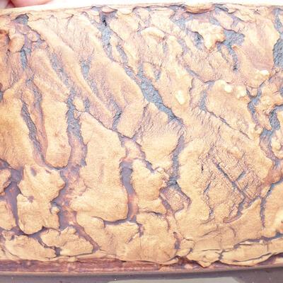 Keramická bonsai miska 33,5 x 33,5 x 10 cm, barva praskaná - 2