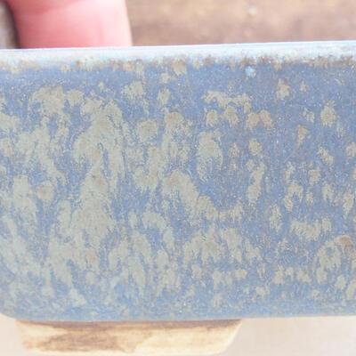 Keramická bonsai miska 9,5 x 8 x 3,5 cm, farba modrá - 2