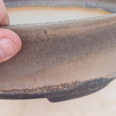 Bonsai miska 22 x 16,5 x 6 cm, barva šedobéžová - 2