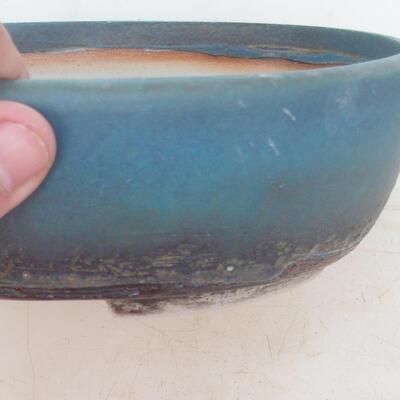 Bonsai miska 20 x 15,5 x 6 cm, barva modrá - 2
