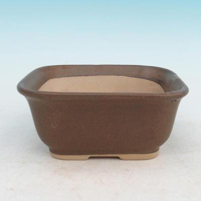 Bonsai miska podmiska H36 - miska 17 x 15 x 8 cm, podmiska 17 x 15 x 1 cm, hnedá - miska 17 x 15 x 8 cm, podmiska 17 x 15 x 1 cm - 2