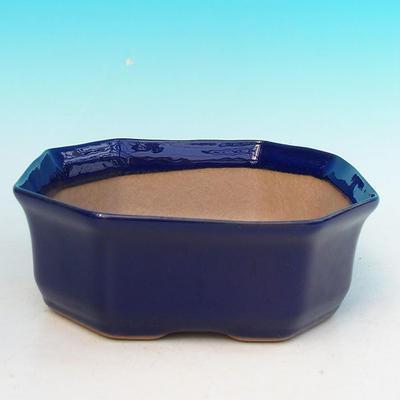 Bonsai miska + podmiska H14, modrá - 2