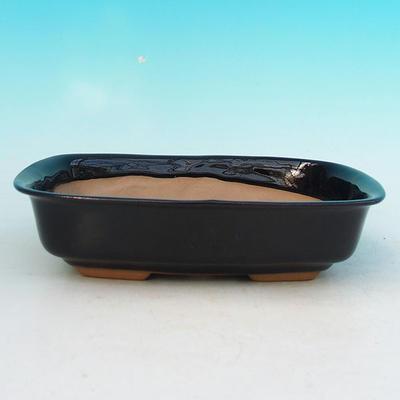 Bonsai miska + podmiska H02, černá - 2