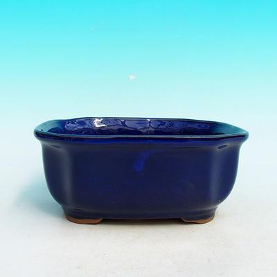 Keramická bonsai miska H 31, modrá - 2