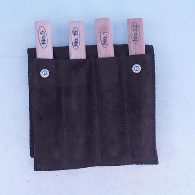 Súprava dlát 4 ks v koženom púzdre - NO18, NO15, No5, NO22 - 2