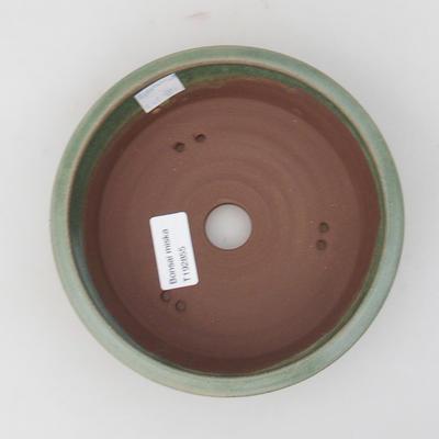 Keramická bonsai miska 16 x 16 x 5 cm, farba zelená - 3